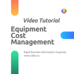video tutorial equipment cost management