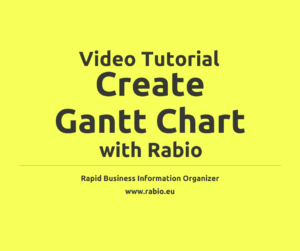 create gantt chart with rabio video tutorial