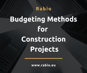 construction budgeting methods