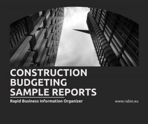 construction budgeting reports